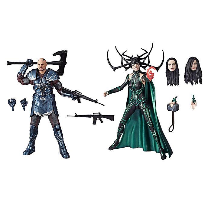 Set di action figure da 15 cm Skurge e Hela serie Marvel Legends Hasbro