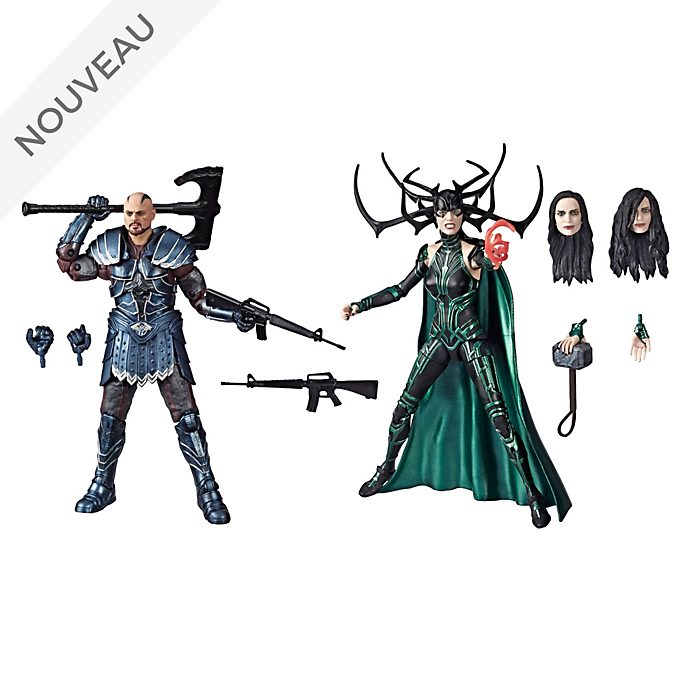 Hasbro Duo de figurines Skurge et Hela articulées 15 cm, Marvel Legends