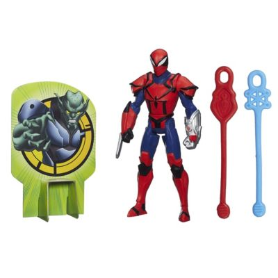 Figurine articulée Spyder Knight de 15 cm, Marvel Web Slingers