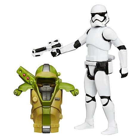 Figura soldado de asalto de la Primera Orden con armadura tipo misión bosque, Star Wars VII: El despertar de la Fuerza (9,5 cm)