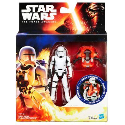 Figura flametrooper de la Primera Orden con armadura tipo misión espacial, Star Wars VII: El despertar de la Fuerza (9,5 cm)