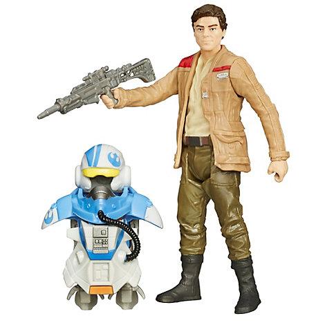 Figurine 9,5 cm Star Wars : Le Réveil de la Force Poe Dameron (Pilote) en armure Mission Spatiale