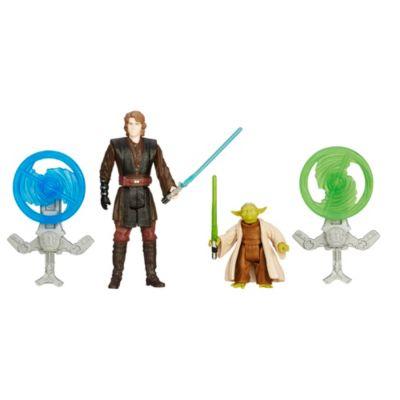 Pack de dos figuras Anakin Skywalker y Yoda misión bosque, Star Wars: La venganza de los Sith (9,5 cm)