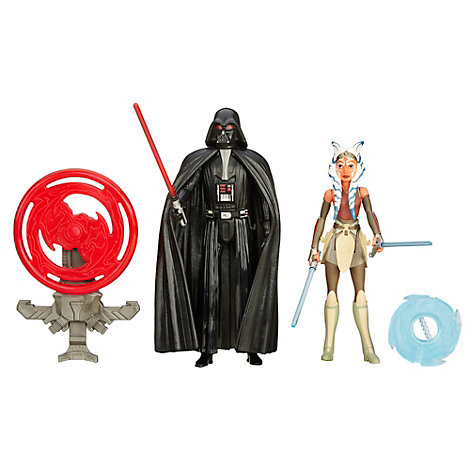 Pack de dos figuras Darth Vader y Ahsoka Tano misión espacial, Star Wars: Rebels (9,5 cm)