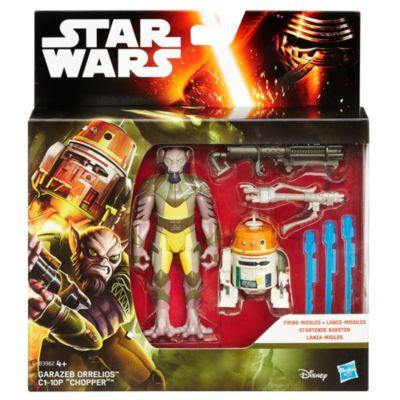 """Pack de dos figuras Garazeb """"Zeb"""" Orrelios y C1-10P misión bosque, Star Wars: Rebels (9,5 cm)"""