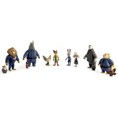 Figurines Nick Wilde et Finnick, Zootopie