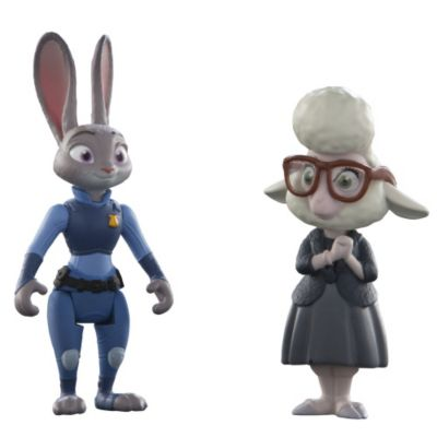 Judy Hopps and Assistant Mayor Bellwether Figures, Zootropolis