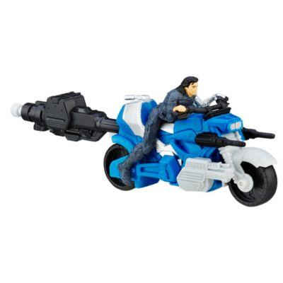 Figurine Le Soldat de l'hiver avec moto de Captain America : Civil War