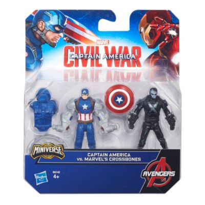 Figurines Captain America contre Crossbones de Marvel, Civil War