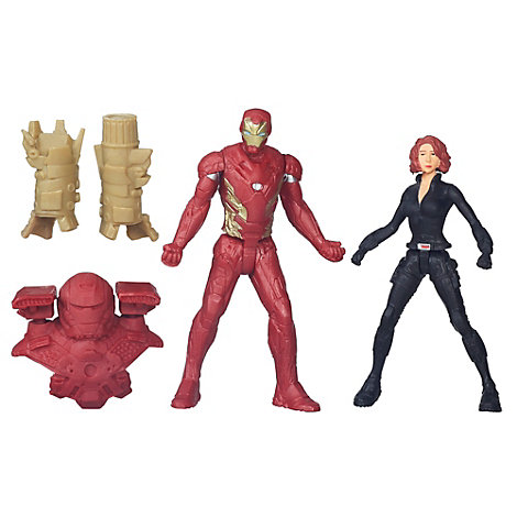 Figurines Black Widow et Iron Man, Captain America : Civil War