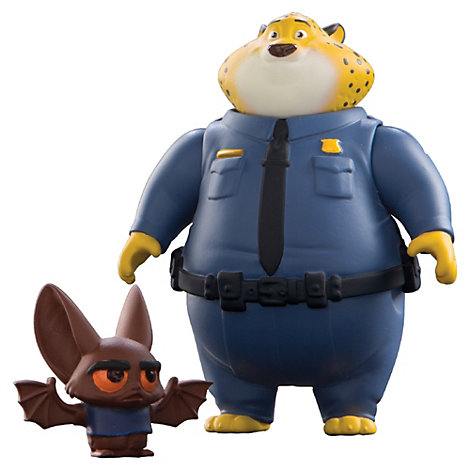 Figurine Officier Clawhauser et Bat Eyewitness, Zootopie