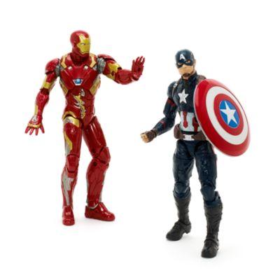 Figursæt med fire figurer fra Marvel Legends-serien Captain America: Civil War