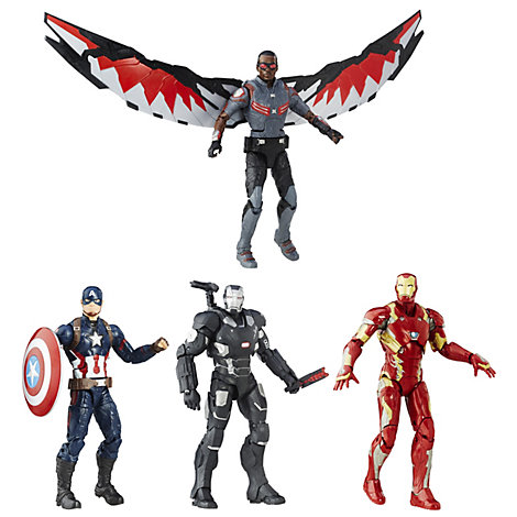 Lot de 4 figurines Legends Captain America : Civil War, Marvel