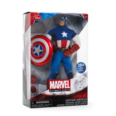 Muñeco acción Premium Capitán América, serie Marvel Ultimate