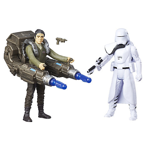 First Order Snowtrooper Officer and Poe Dameron 6'' Action Figures, Star Wars: The Force Awakens