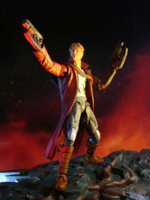 Muñeco de acción de Star Lord con base interconectable de Guardianes de la Galaxia, de la colección Marvel Select