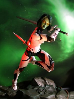 Marvel Select Guardians of the Galaxy Gamora With Rocket Raccoon Action Figure With Interlocking Base