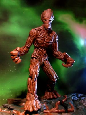 Marvel Select Guardians of the Galaxy Groot Action Figure With Interlocking Base