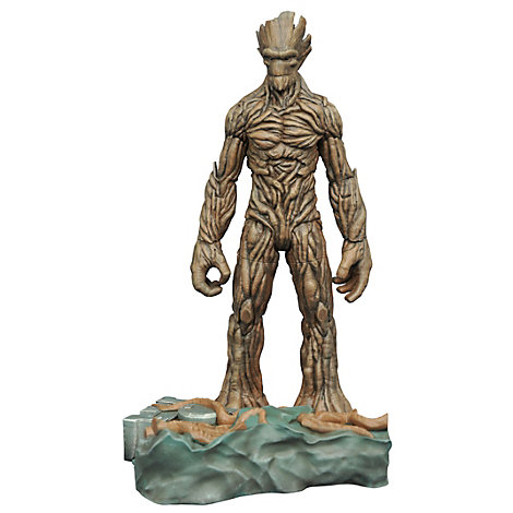 Muñeco de acción de Groot con base interconectable de Guardianes de la Galaxia, de la colección Marvel Select