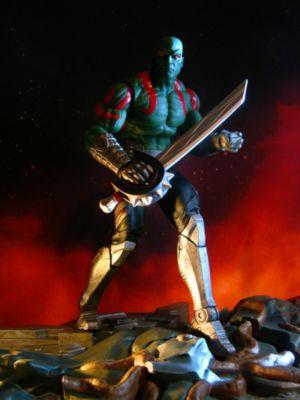 Figurine articulée de Drax avec socle encastrable Marvel Select Les Gardiens de la Galaxie