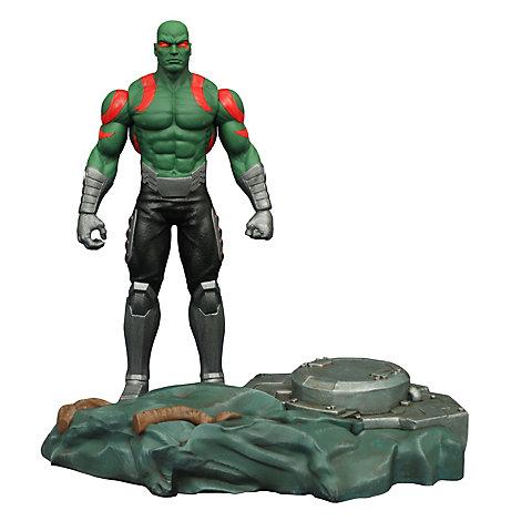 Muñeco de acción de Drax con base interconectable de Guardianes de la Galaxia, de la colección Marvel Select