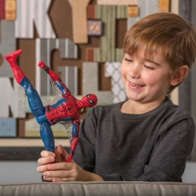 Spider-Man Homecoming talande actionfigur med ögoneffekter