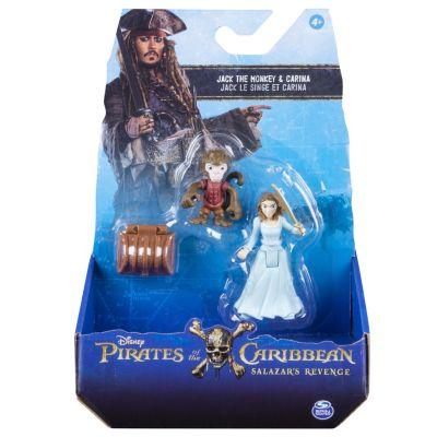 Actionfigurset med apan Jack och Carina, Pirates of the Caribbean: Salazar's Revenge
