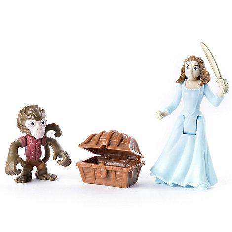 Ensemble de figurines articulées de Jack le singe et Carina, Pirates des Caraïbes: La Vengeance de Salazar