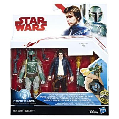 Ensemble de 2figurines Force Link d'Han Solo et Boba Fett, Star Wars