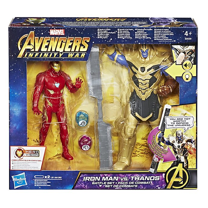 Ensemble de figurines Combat d'Iron Man contre Thanos