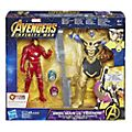 Ensemble de figurines Combat d'Iron Man contre Thanos