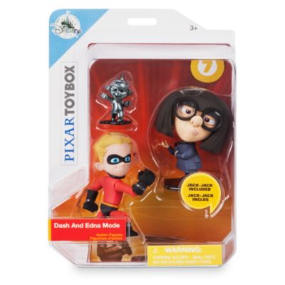 Disney Pixar Toybox Dash and Edna Mode Action Figure Set