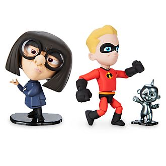 Set action figure Flash ed Edna Moda Disney Pixar Toybox