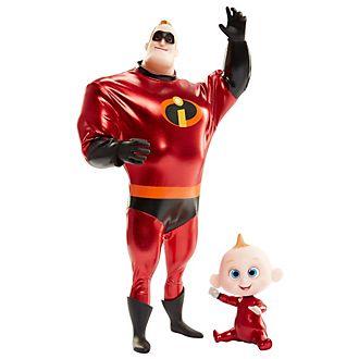 Set muñecos acción Mr. increíble y Jack-Jack (28cm)