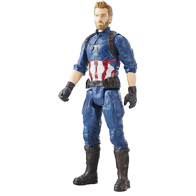 Muñeco acción Capitán América, Titan Hero Power FX