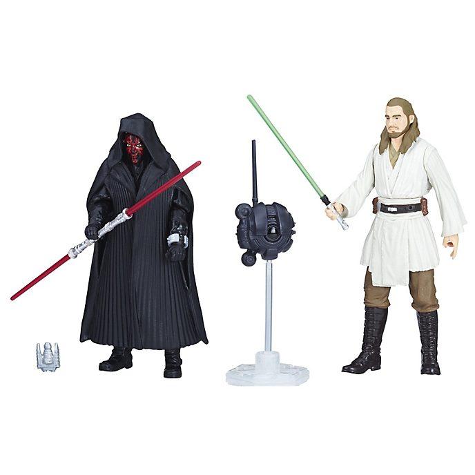 Set de figuras de Darth Maul y Qui-Gon Jinn Star Wars Force Link 2.0