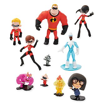 Disney Store Disney Pixar Toybox Incredibles 2 Action Figures, Set of 11
