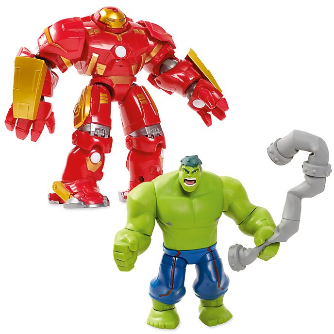 Disney Store Coffret de bataille Hulk et Hulkbuster, collection Marvel Toybox