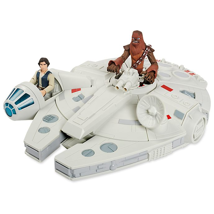 Disney Store Star Wars Toybox Millennium Falcon With Figures