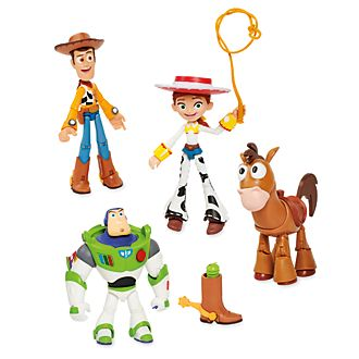 Disney Store Coffret de 4 figurines Toy Story articulées, collection Disney Pixar Toybox