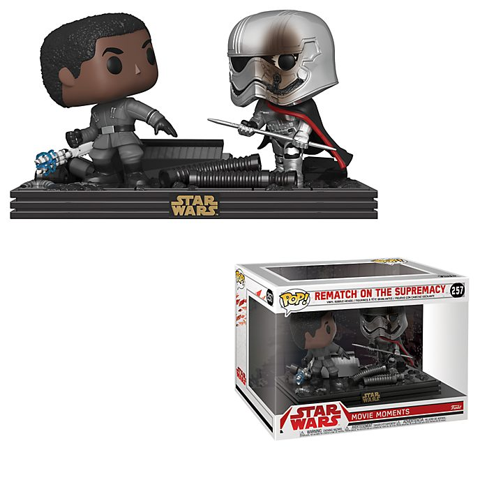 Funko Pop! Escena de duelo entre la Capitana Phasma y Finn