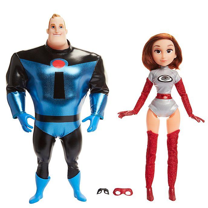 Set muñecos disfrazados Mr. Increíble y Elastigirl, Los Increíbles 2, Jakks