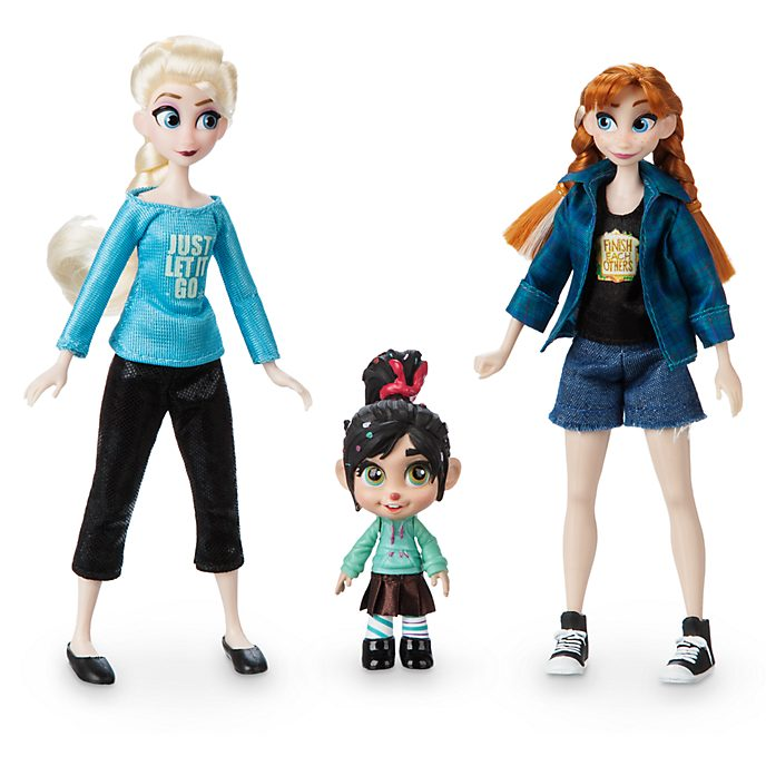 Disney Store Anna, Elsa and Vanellope Mini Doll Set, Wreck-It Ralph 2
