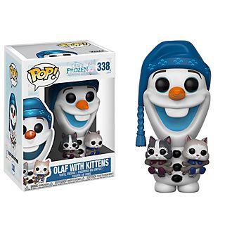 Personaggio in vinile Olaf con gattini serie Pop! di Funko
