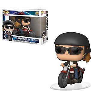 Personaggio in vinile Carol Danvers su una moto di Funko
