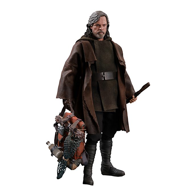 Hot Toys Figurine Luke Skywalker deluxe à collectionner, Star Wars : Les Derniers Jedi