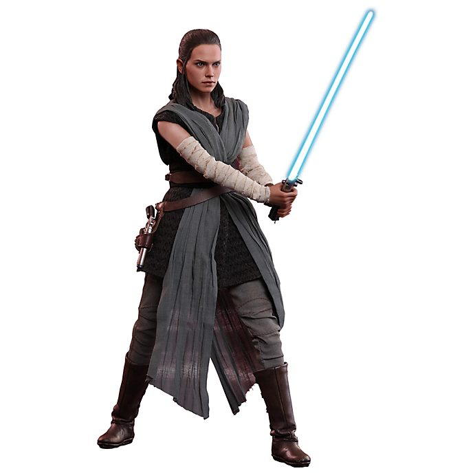 Personaggio da collezione allenamento Hot Toys Rey Star Wars: Gli Ultimi Jedi