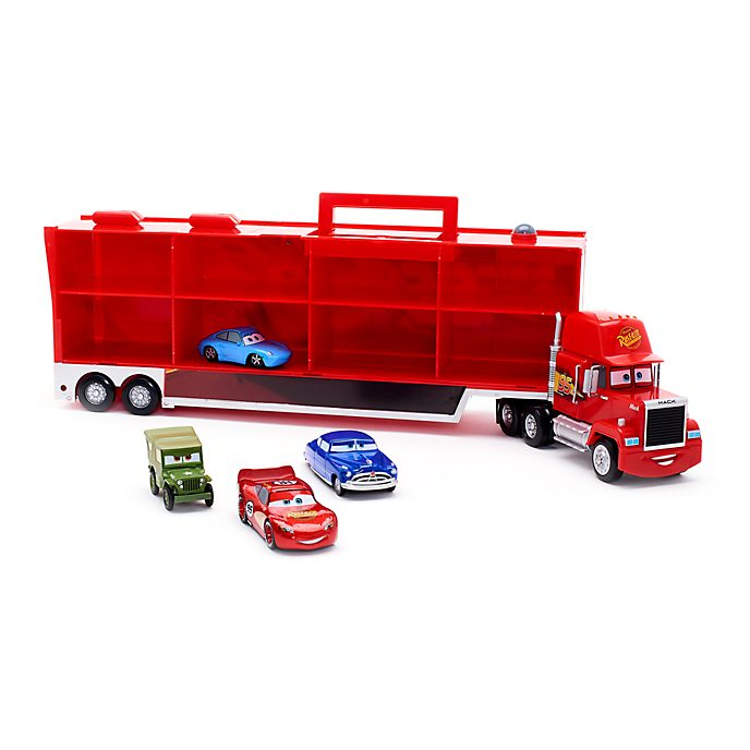 Disney Store Mack Carrier With 4 Pullback Die-Casts, Disney Pixar Cars
