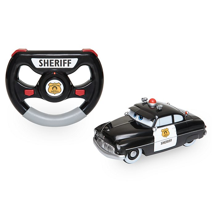 Disney Store Sheriff 6'' Remote Control Car, Disney Pixar Cars