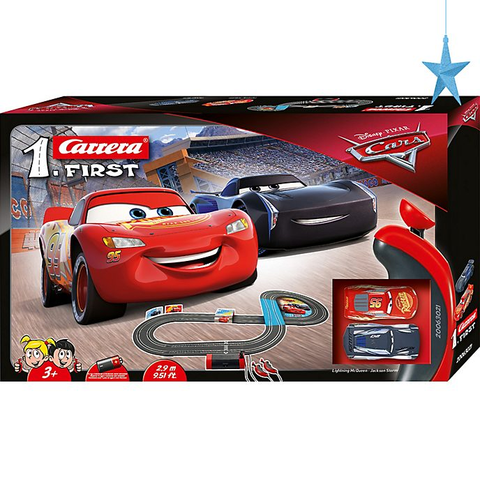 Set da gioco macchinine da corsa Disney Pixar Cars Carrera First